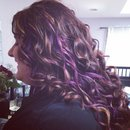Purple chalk highlights