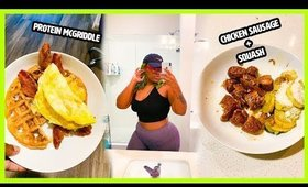 WHAT I EAT IN A DAY | Easy Healthy Meal Ideas for Lazy People | Protein Waffle McGriddle