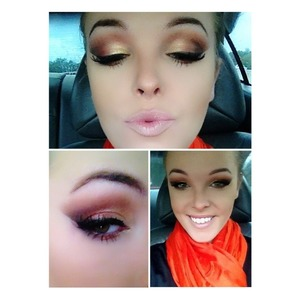 Had so much fun playing with orange, gold, cranberry, and plum eyeshadows! I love fall it's my favorite one of my favorite seasons! For more on this look you can follow me on Instagram- makeupbychelsie