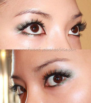 Created a customized lash look for myself. Learn how and why to layer false eyelashes here -0-> http://blog.falseeyelashessite.com/false-eyelashes-101-tip-how-and-why-to-layer-false-eyelashes/  All products can be found at www.FalseEyelashesSite.com