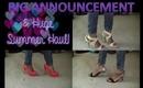 BIG ANNOUNCEMENT + Huge Summer Haul! (JustFab, Bath & Body Works & Target!)
