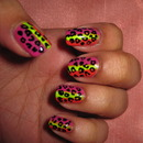 Pink, Yellow, Orange Leopard
