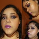 Purple and Gold makeup look