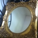 Old, Big, Gold Mirror
