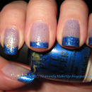 Blue French Glitter