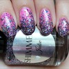 Shimmer Julie (Gradient Glitter Layered Over China Glaze Bottoms Up)