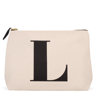 Natural Wash Bag Letter L