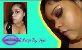 Gold&Purple Makeup Tutorial