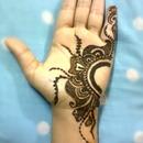 My hand- Henna