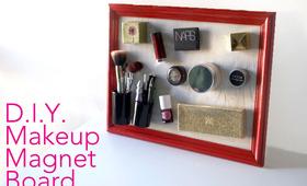 DIY Makeup Magnet Board