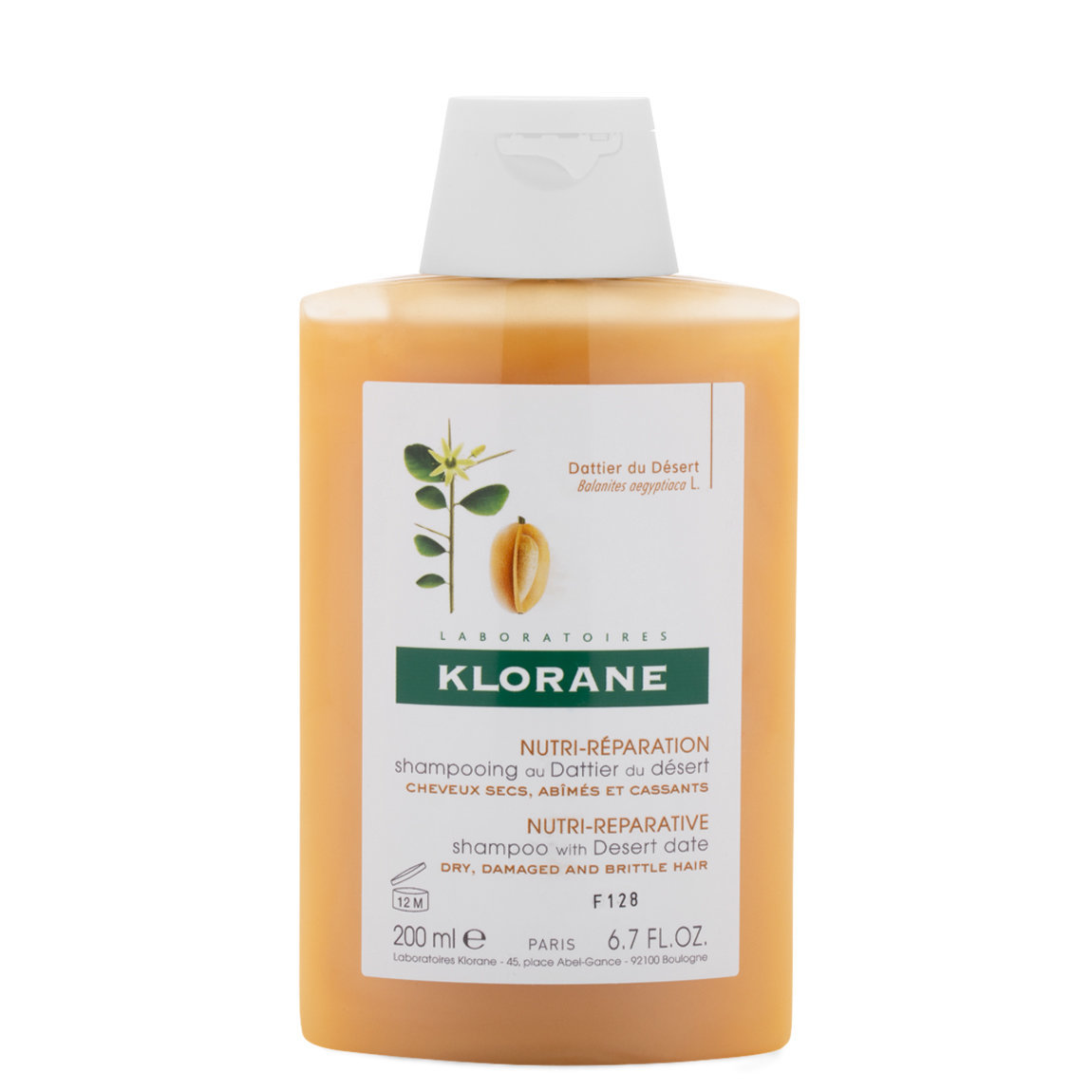 Klorane Shampoo with Desert Date 6.7 oz alternative view 1 - product swatch.