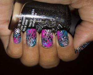 Find more information on the blog post: http://www.bellezzabee.com/2013/12/abstract-fireworks-nail-art.html