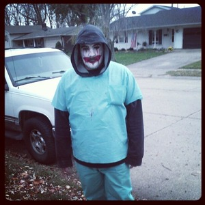 i made my cousin into a scary clown for halloween