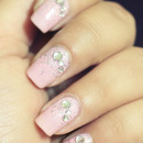 Soft Pink Jewel Nails