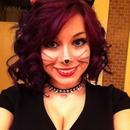 Halloween cat makeup :3