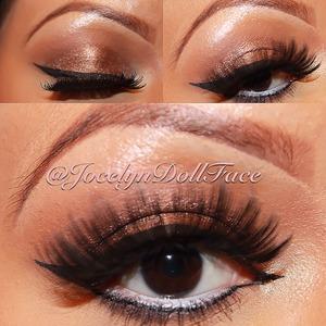 An everyday bronze natural smokey eye.
