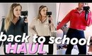 BACK TO SCHOOL TRY ON HAUL 2018! Grad School + Work Clothes