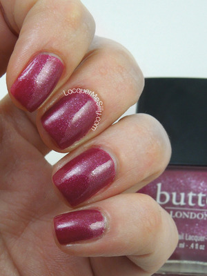 butter London Pistol Pink from the Rock Your Color Collection. More information can be found on my blog: http://www.lacquermesilly.com/2013/12/17/butter-london-pistol-pink/#more-7397