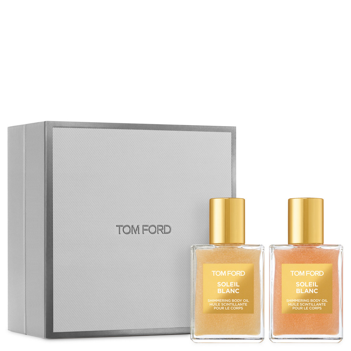 TOM FORD Soleil Blanc Shimmering Body Oil Duo product swatch.