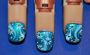 Let it Snow ..nail art