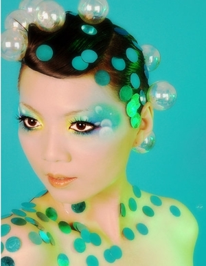 colorful, shimmer eyeshadow, avant garde