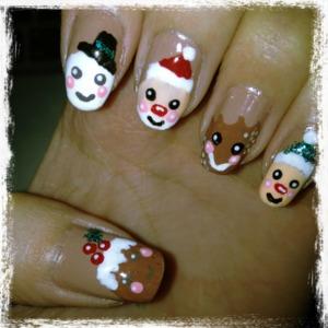 My Festive Nails www.kakabeautyblog.com
