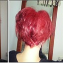 Dyed Bright Red Hair