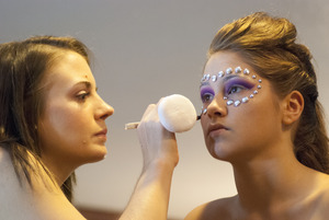behind the scenes look of me working on one of my 2013 makeup warrior competition entries.Model: Hanna Ledyard