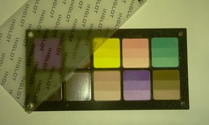 Inglot palette, not completely filled yet.