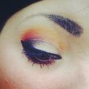quick orange smokey eye