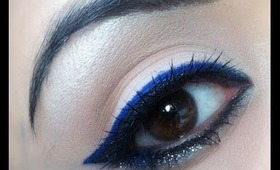 Blue Eyeliner Holiday Makeup