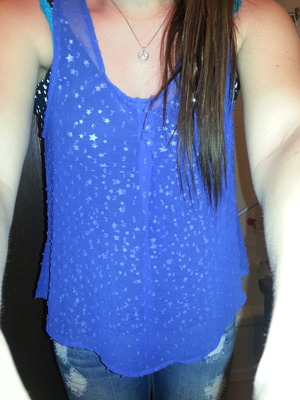 #blue#stars#long hair#cute..