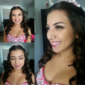 Worked on my first Quinceanera look!  She wanted something subtle & more on the natural side.
