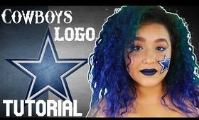 Cowboys Logo Face Paint Tutorial