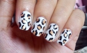 GOLD LEOPARD PRINT NAIL ART TUTORIAL