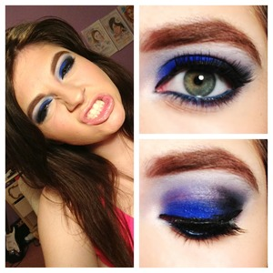 Bombshell blue using chaos and black market by urban decay from the vice palette