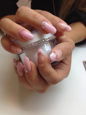 Rosa Glitter & Strass