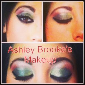 Colorful eyeshadow  Kat Von dee eyeshadow primer Sephora black cream liner Coastal scents 88 shimmer palette  Ysl shocking mascara