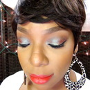How I wear Mac's Blue Brown Pigment