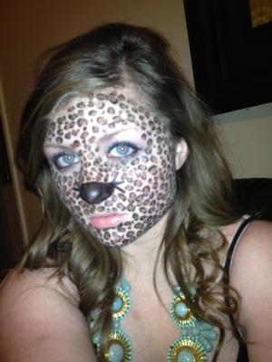 Cheetah inspired makeup