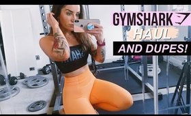 GYMSHARK HAUL + TRY ON (AND DUPES!) *not sponsored*
