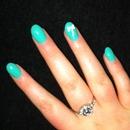 turquoise acrylics