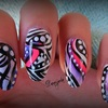 Abstract Tribal Nail Art ~ No2