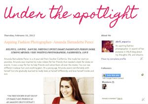 Do you want to be the next under the spotlight girl?? check out my blog and you can be the next women to be featured on my blog. I need to hear from ordinary women who are striving for what they want to achieve in life. wethere youre an aspiring makeup artist, photographer, artist, etc. i would love to help you out!!  Go to http://strivingforit.blogspot.com