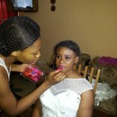 Working on the bride