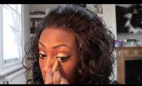 Make up tutorial, Golden eye series, plum and gold