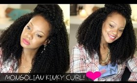 Natural Hair Extensions! Mercy's Hair Mongolian Kinky Curly Hair Review!