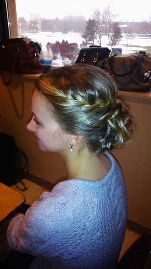Braided updo I did on a model for a Bridal Fashion show