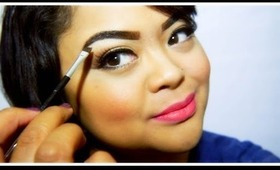 Eyebrow Routine // How to create defined long lasting eyebrows //  villabeauTIFFul