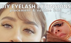 DIY EYELASH EXTENSIONS   safe at home   placement volume fans isolations and q&a